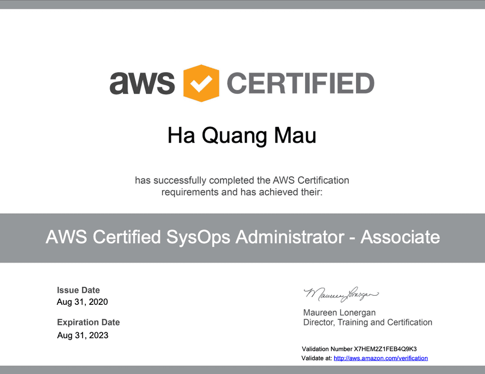 Kinh nghiệm thi chứng chỉ AWS Certified SysOps – Associate